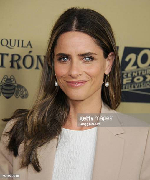 Actress Amanda Peet arrives at the premiere screening of FX's 'American Horror Story Hotel' at Regal Cinemas LA Live on October 3 2015 in Los Angeles...