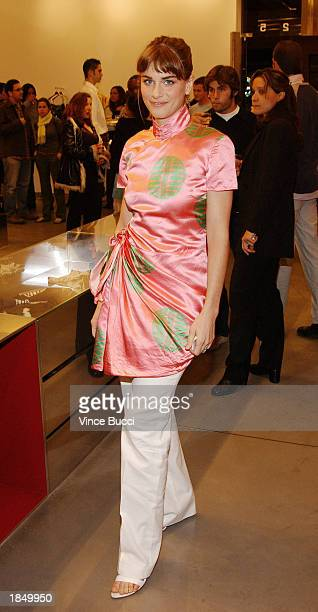 Actress Amanda Peet attends a party hosted by the Miu Miu store to support the IFP/Los Angeles Filmmaker Labs on March 14 2003 in Los Angeles...