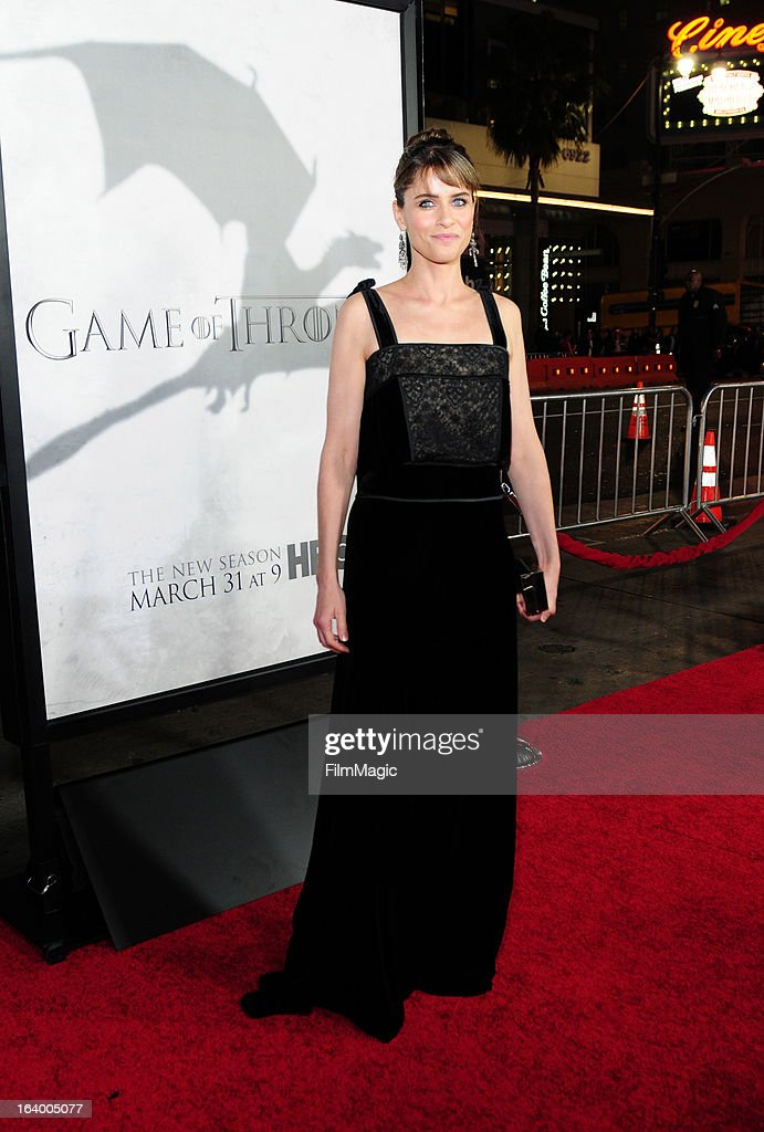 Actress Amanda Peet attends 'Game Of Thrones' Los Angeles premiere presented by HBO at TCL Chinese Theatre on March 18, 2013 in Hollywood, California.