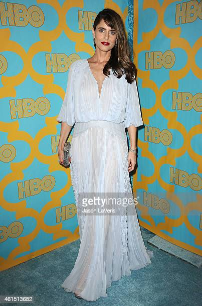Actress Amanda Peet attends HBO's post Golden Globe Awards party at The Beverly Hilton Hotel on January 11 2015 in Beverly Hills California