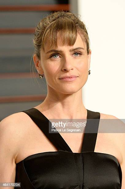 Actress Amanda Peet attends the 2015 Vanity Fair Oscar Party hosted by Graydon Carter at Wallis Annenberg Center for the Performing Arts on February...