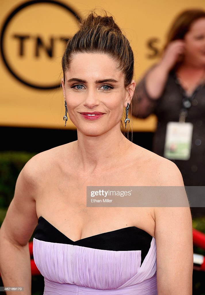 Actress <a gi-track='captionPersonalityLinkClicked' href=/galleries/search?phrase=Amanda+Peet&family=editorial&specificpeople=201910 ng-click='$event.stopPropagation()'>Amanda Peet</a> attends the 21st Annual Screen Actors Guild Awards at The Shrine Auditorium on January 25, 2015 in Los Angeles, California.