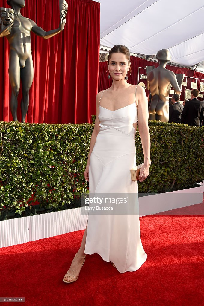 Actress <a gi-track='captionPersonalityLinkClicked' href=/galleries/search?phrase=Amanda+Peet&family=editorial&specificpeople=201910 ng-click='$event.stopPropagation()'>Amanda Peet</a> attends The 22nd Annual Screen Actors Guild Awards at The Shrine Auditorium on January 30, 2016 in Los Angeles, California. 25650_014