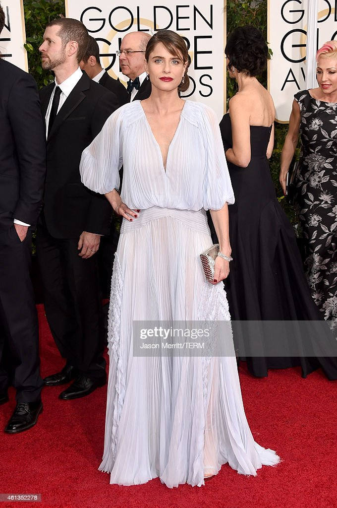 Actress <a gi-track='captionPersonalityLinkClicked' href=/galleries/search?phrase=Amanda+Peet&family=editorial&specificpeople=201910 ng-click='$event.stopPropagation()'>Amanda Peet</a> attends the 72nd Annual Golden Globe Awards at The Beverly Hilton Hotel on January 11, 2015 in Beverly Hills, California.