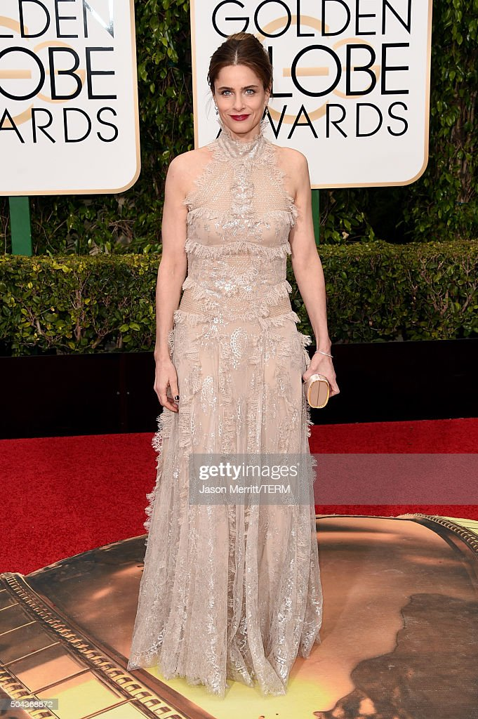 Actress <a gi-track='captionPersonalityLinkClicked' href=/galleries/search?phrase=Amanda+Peet&family=editorial&specificpeople=201910 ng-click='$event.stopPropagation()'>Amanda Peet</a> attends the 73rd Annual Golden Globe Awards held at the Beverly Hilton Hotel on January 10, 2016 in Beverly Hills, California.