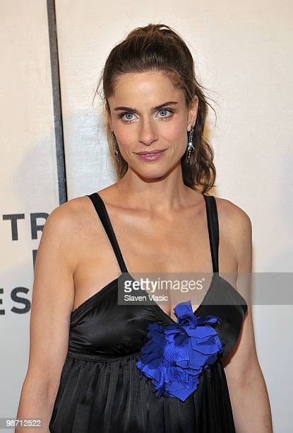 Actress Amanda Peet attends the 'Please Give' premiere during the 9th Annual Tribeca Film Festival at the Tribeca Performing Arts Center on April 27...