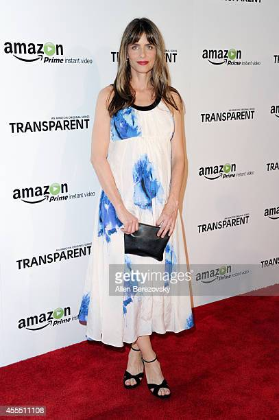 Actress Amanda Peet attends the Premiere of Amazon's 'Transparent' at Ace Hotel on September 15 2014 in Los Angeles California