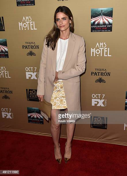 Actress Amanda Peet attends the premiere screening of FX's 'American Horror Story Hotel' at Regal Cinemas LA Live on October 3 2015 in Los Angeles...