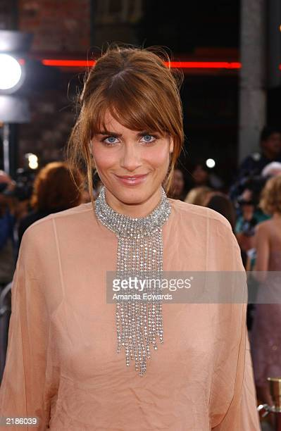 Actress Amanda Peet attends the world premiere of the Universal Pictures film 'Seabiscuit' at the Mann Village Theatre July 22 2003 in Westwood...