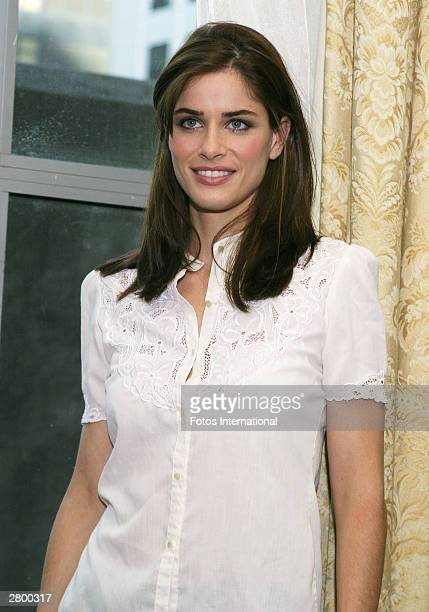 OUT*** Actress Amanda Peet poses at a press junket for her new film 'Something's Got to Give' at the Waldorf Astoria Hotel November 22 2003 in New...