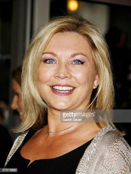 Actress Amanda Redman arrives at the world premiere of 'Three' at Odeon West End on May 2 2006 in London England