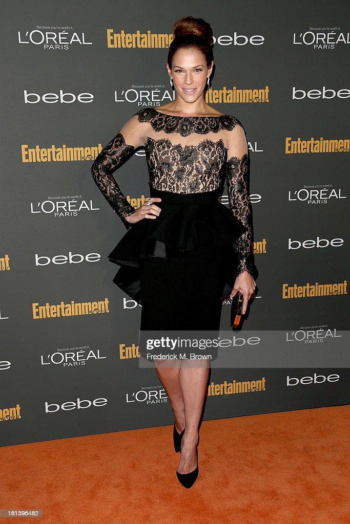 Actress <a gi-track='captionPersonalityLinkClicked' href=/galleries/search?phrase=Amanda+Righetti&family=editorial&specificpeople=226986 ng-click='$event.stopPropagation()'>Amanda Righetti</a> arrives at Entertainment Weekly's Pre-Emmy Party at Fig & Olive Melrose Place on September 20, 2013 in West Hollywood, California.