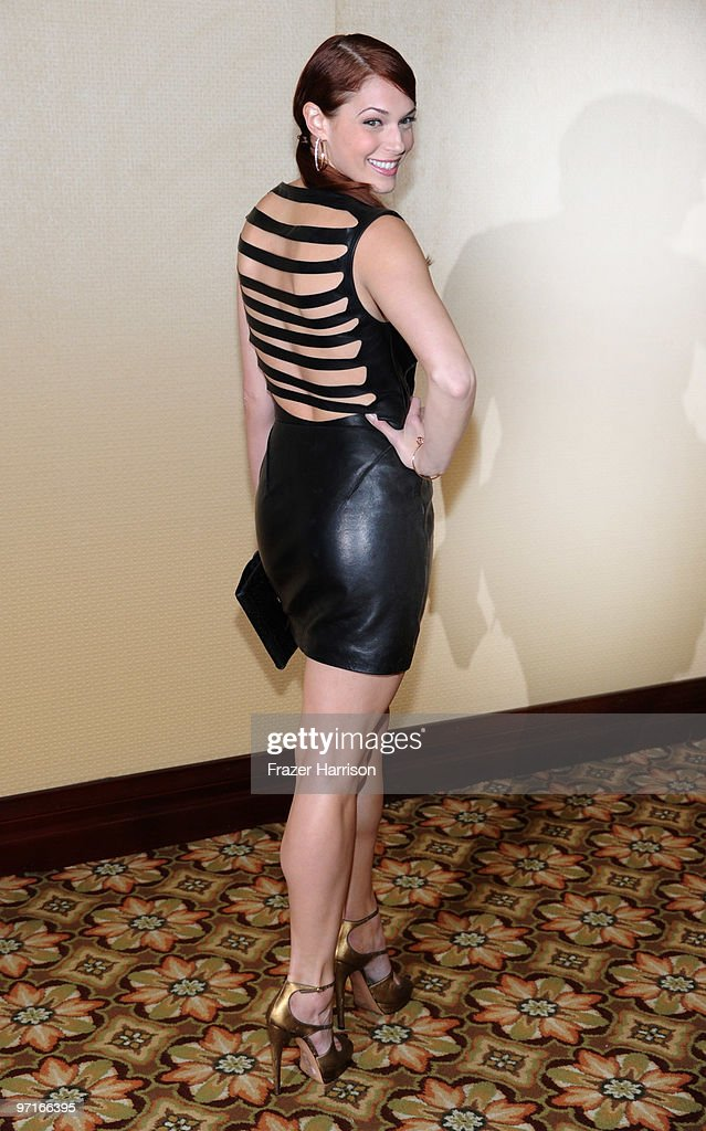 Actress <a gi-track='captionPersonalityLinkClicked' href=/galleries/search?phrase=Amanda+Righetti&family=editorial&specificpeople=226986 ng-click='$event.stopPropagation()'>Amanda Righetti</a> arrives at the 24th Annual American Society of Cinematographers 24th Annual Outstanding Achievement Awards held at the Hyatt Regency Century Plaza Hotel on February 27, 2010 in Los Angeles, California.