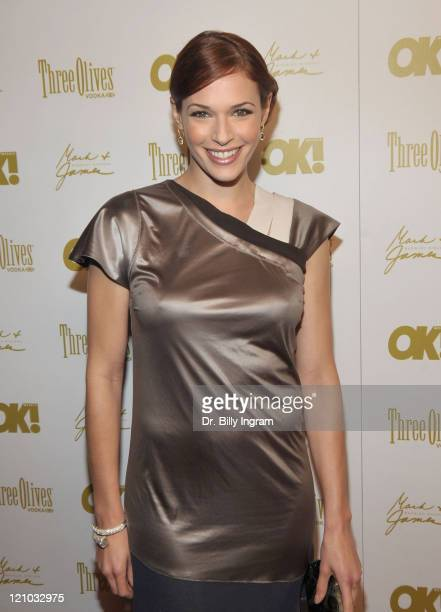 Actress Amanda Righetti arrives at the OK Magazine 2010 PreOscar Cocktail Party at Beso on March 5 2010 in Hollywood California