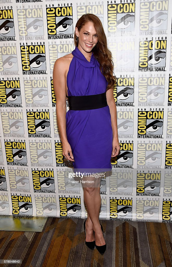 Actress Amanda Righetti attends the 'Colony' press line during Comic-Con International 2016 at Hilton Bayfront on July 21, 2016 in San Diego, California.