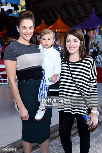 Actress Amanda Righetti Knox Alan and actress Marla Sokoloff attend PS ARTS presents Express Yourself 2014 with sponsors OneWest Bank and Jaguar Land...
