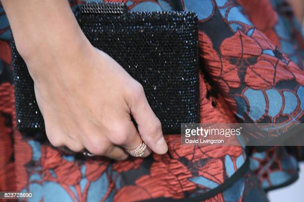 Actress Amanda Righetti purse detail attends the Hallmark Channel and Hallmark Movies and Mysteries 2017 Summer TCA Tour on July 27 2017 in Beverly...