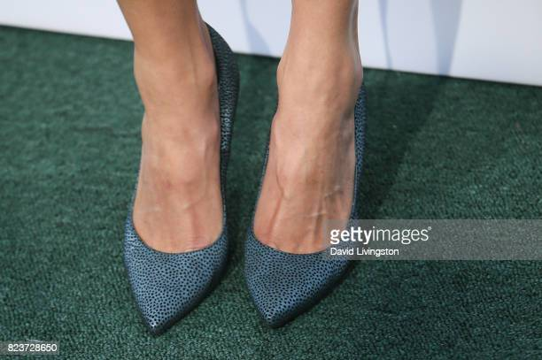 Actress Amanda Righetti shoe detail attends the Hallmark Channel and Hallmark Movies and Mysteries 2017 Summer TCA Tour on July 27 2017 in Beverly...