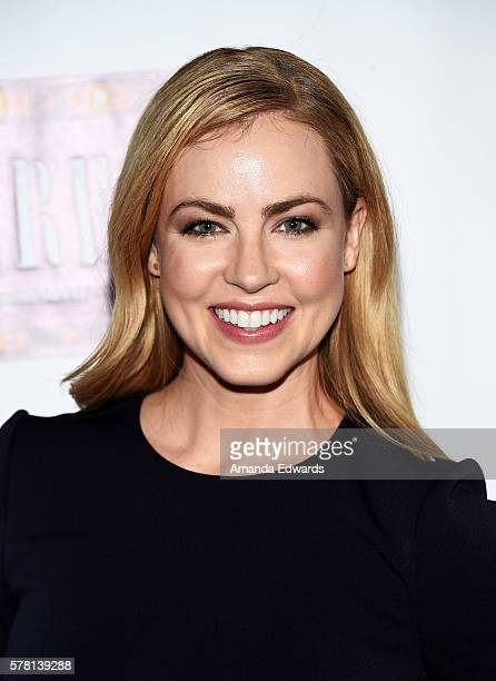 Actress Amanda Schull arrives at the opening of 'Cabaret' at the Hollywood Pantages Theatre on July 20 2016 in Hollywood California