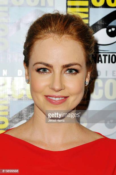 Actress Amanda Schull attends '12 Monkeys' press line at ComicCon International 2017 Day 1 on July 20 2017 in San Diego California