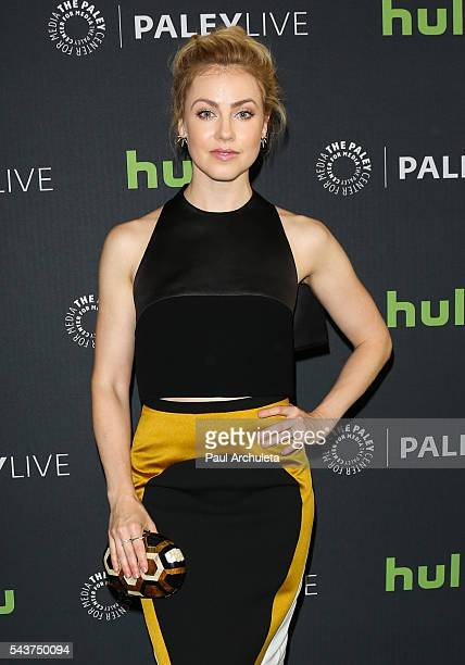 Actress Amanda Schull attends PaleyLive LA's screening of '12 Monkeys' at The Paley Center for Media on June 29 2016 in Beverly Hills California