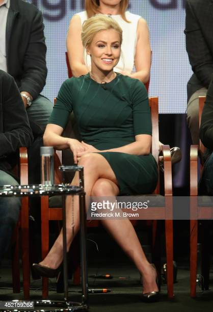 Actress Amanda Schull speaks onstage at the '12 Monkeys'' panel during the NBCUniversal Syfy portion of the 2014 Summer Television Critics...