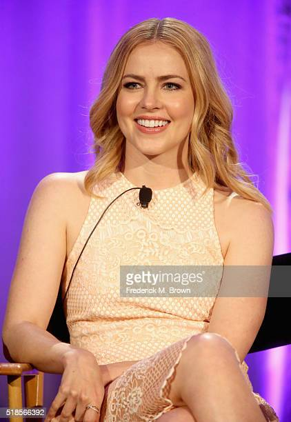 Actress Amanda Schull speaks onstage during the '12 Monkeys' panel at the 2016 NBCUniversal Summer Press Day at Four Seasons Hotel Westlake Village...