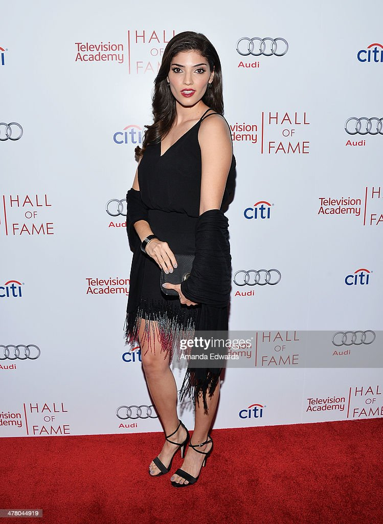 Actress <a gi-track='captionPersonalityLinkClicked' href=/galleries/search?phrase=Amanda+Setton&family=editorial&specificpeople=5502459 ng-click='$event.stopPropagation()'>Amanda Setton</a> arrives at the The Television Academy's 23rd Hall Of Fame Induction Gala at The Regent Beverly Wilshire Hotel on March 11, 2014 in Beverly Hills, California.
