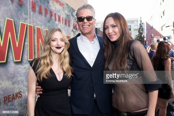 Actress Amanda Seyfried and actor Dana Ashbrook attend the premiere of Showtime's 'Twin Peaks' at the Theatre at the Ace Hotel on May 19 2017 in Los...