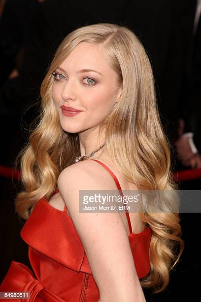 Actress Amanda Seyfried arrives at the 81st Annual Academy Awards held at Kodak Theatre on February 22 2009 in Los Angeles California