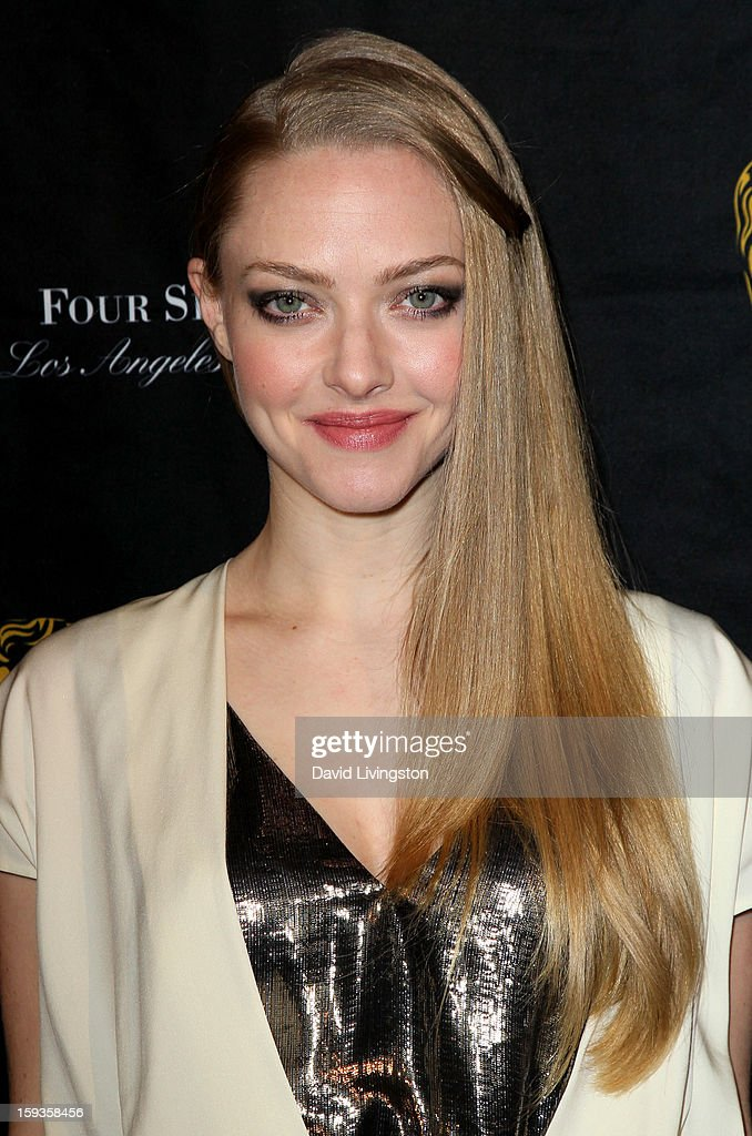 Actress <a gi-track='captionPersonalityLinkClicked' href=/galleries/search?phrase=Amanda+Seyfried&family=editorial&specificpeople=216619 ng-click='$event.stopPropagation()'>Amanda Seyfried</a> arrives at the BAFTA Los Angeles 2013 Awards Season Tea Party held at the Four Seasons Hotel Los Angeles on January 12, 2013 in Los Angeles, California.