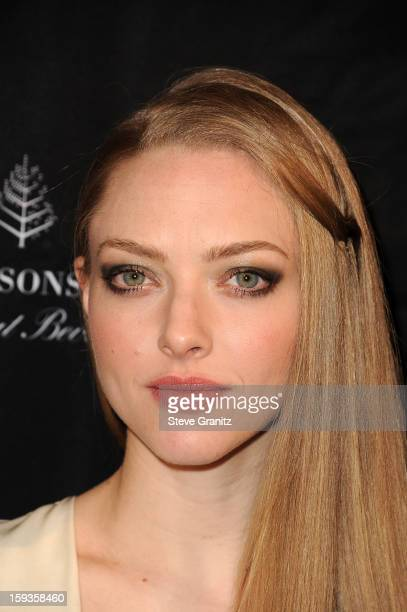 Actress Amanda Seyfried arrives at the BAFTA Los Angeles 2013 Awards Season Tea Party held at the Four Seasons Hotel Los Angeles on January 12 2013...