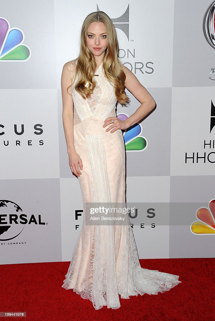 Actress <a gi-track='captionPersonalityLinkClicked' href=/galleries/search?phrase=Amanda+Seyfried&family=editorial&specificpeople=216619 ng-click='$event.stopPropagation()'>Amanda Seyfried</a> arrives at the NBC Universal's 70th annual Golden Globe Awards after party on January 13, 2013 in Beverly Hills, California.