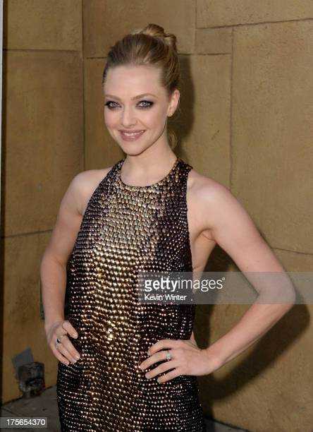 Actress Amanda Seyfried arrives at the premiere of RADiUSTWC's 'Lovelace' at the Egyptian Theatre on August 5 2013 in Hollywood California