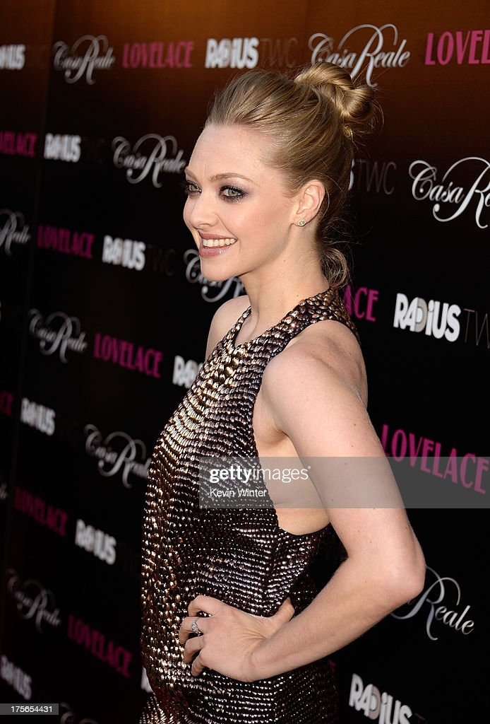 Actress Amanda Seyfried arrives at the premiere of RADiUS-TWC's 'Lovelace' at the Egyptian Theatre on August 5, 2013 in Hollywood, California.