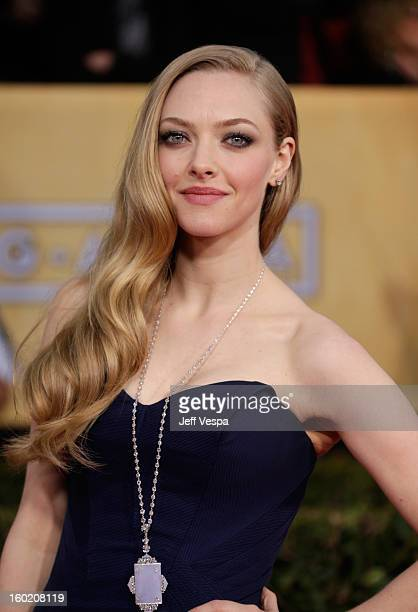 Actress Amanda Seyfried arrives at the19th Annual Screen Actors Guild Awards held at The Shrine Auditorium on January 27 2013 in Los Angeles...