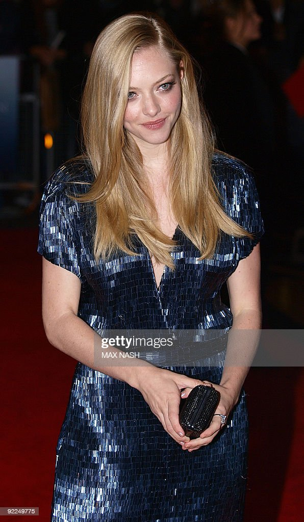US actress Amanda Seyfried arrives for the World Premiere of her latest film 'Chloe' in Leicester Square London on October 22 2009 AFP PHOTO/Max Nash
