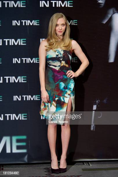 Actress Amanda Seyfried attends 'In Time' photocall at Villamagna Hotel on November 3 2011 in Madrid Spain