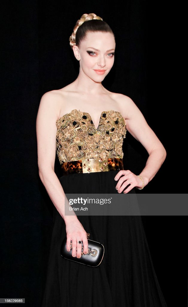 Actress Amanda Seyfried attends 'Les Miserables' New York premiere at Ziegfeld Theater on December 10 2012 in New York City