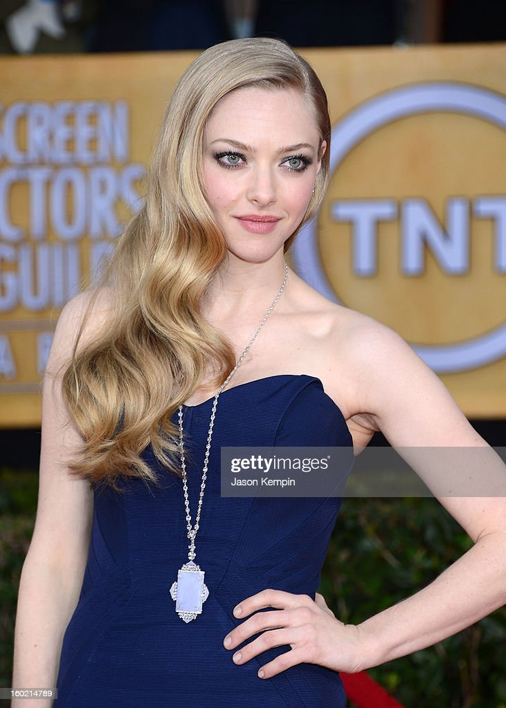 Actress Amanda Seyfried attends the 19th Annual Screen Actors Guild Awards at The Shrine Auditorium on January 27, 2013 in Los Angeles, California.