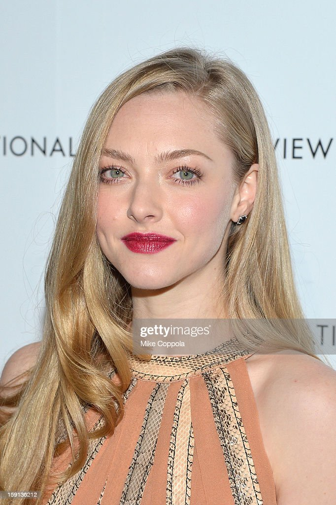 Actress <a gi-track='captionPersonalityLinkClicked' href=/galleries/search?phrase=Amanda+Seyfried&family=editorial&specificpeople=216619 ng-click='$event.stopPropagation()'>Amanda Seyfried</a> attends the 2013 National Board Of Review Awards at Cipriani 42nd Street on January 8, 2013 in New York City.