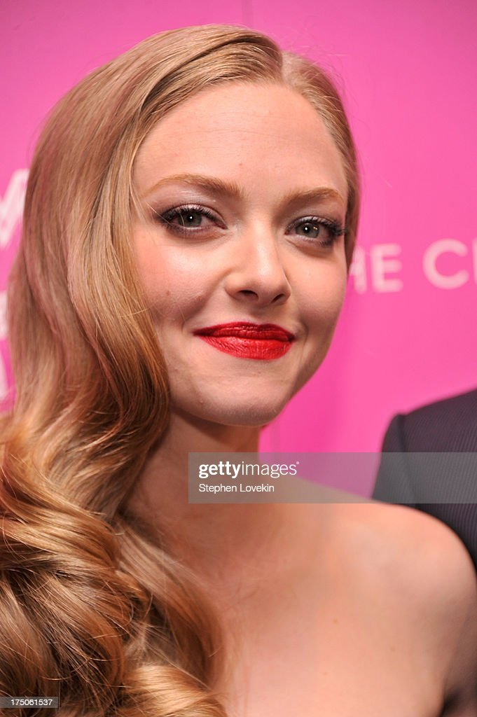 Actress Amanda Seyfried attends The Cinema Society and MCM with Grey Goose screening of Radius TWC's 'Lovelace' at MoMA on July 30, 2013 in New York City.