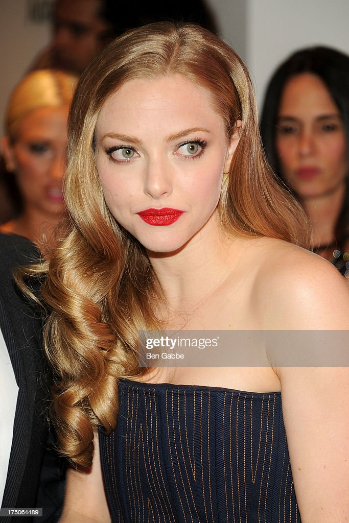 Actress Amanda Seyfried attends The Cinema Society and MCM with Grey Goose host a screening of Radius TWC's 'Lovelace' at The Museum of Modern Art on July 30, 2013 in New York City.
