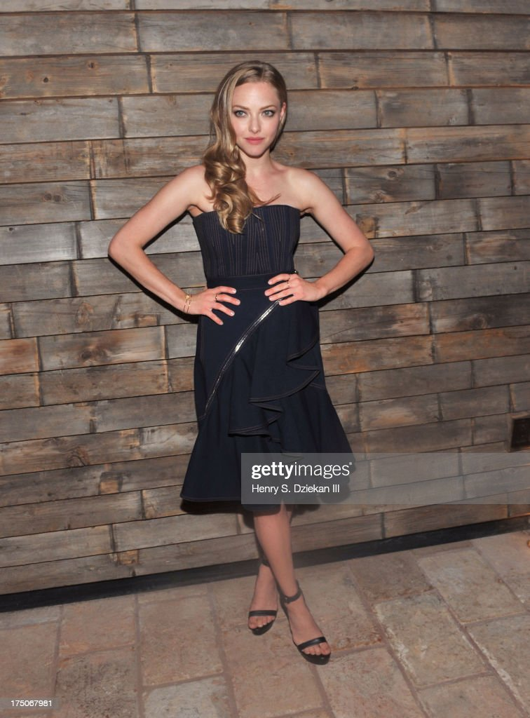 Actress Amanda Seyfried attends The Cinema Society and MCM with Grey Goose screening of Radius TWC's 'Lovelace' after party at Refinery Rooftop on July 30, 2013 in New York City.