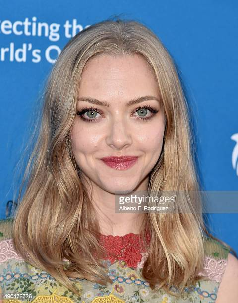 Actress Amanda Seyfried attends the 'Concert For Our Oceans' hosted by Seth MacFarlane benefitting Oceana at The Wallis Annenberg Center for the...