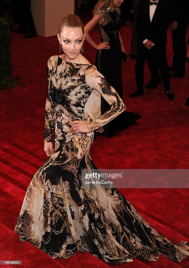 Actress Amanda Seyfried attends the Costume Institute Gala for the 'PUNK: Chaos to Couture' exhibition at the Metropolitan Museum of Art on May 6, 2013 in New York City.