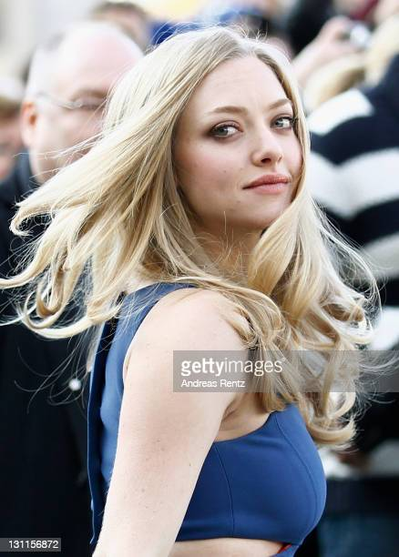 Actress Amanda Seyfried attends the 'In Time' photocall at Hotel Adlon on November 2 2011 in Berlin Germany