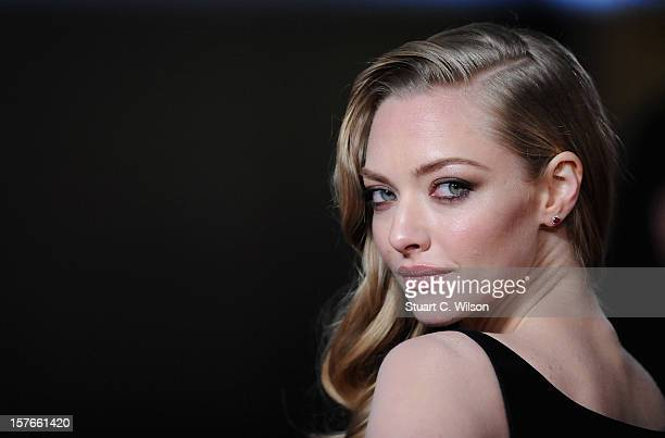 Actress Amanda Seyfried attends the 'Les Miserables' World Premiere at the Odeon Leicester Square on December 5 2012 in London England