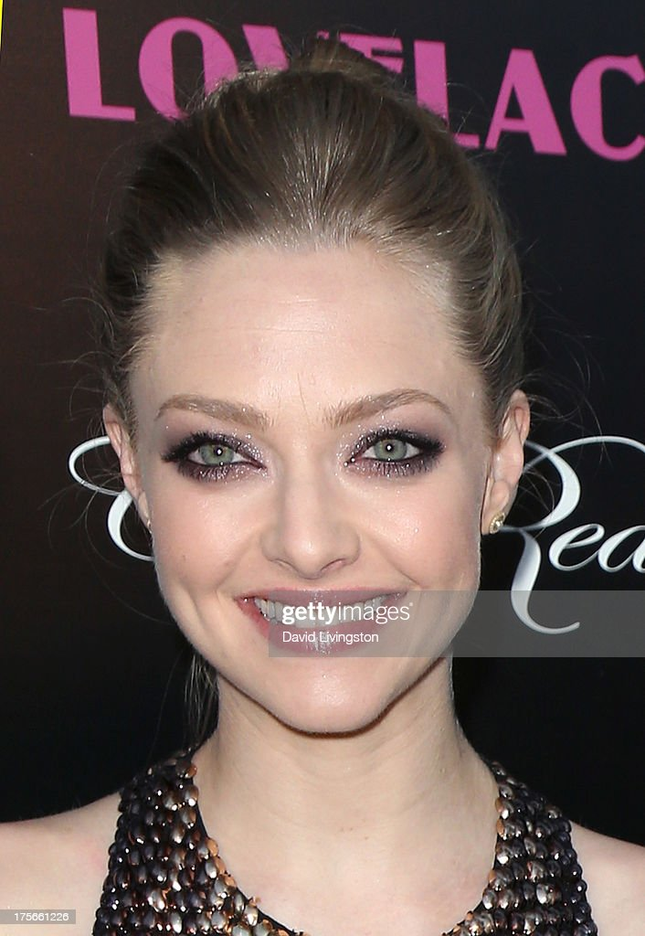 Actress <a gi-track='captionPersonalityLinkClicked' href=/galleries/search?phrase=Amanda+Seyfried&family=editorial&specificpeople=216619 ng-click='$event.stopPropagation()'>Amanda Seyfried</a> attends the premiere of RADiUS-TWC's 'Lovelace' at the Egyptian Theatre on August 5, 2013 in Hollywood, California.