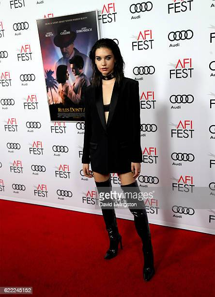 Actress Amanda Steele attends the premiere of Rules Don't Apply at AFI Fest 2016 presented by Audi at TCL Chinese Theatre on November 10 2016 in...